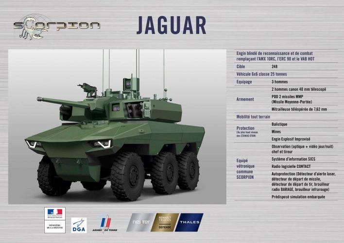 Jaguar futur véhicule blindé à roues de l'armée francaise